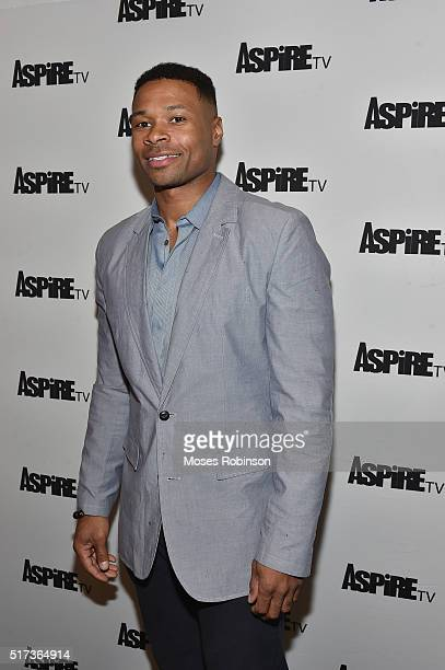 Actor Karon Riley attends the Premiere Screening Of The Aspire Original Magic In The Making at The Woodruff Arts Center Symphony Hall on March 24...