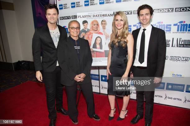 Actor Kash Hovey Actor Shari Belafonte Writer/Director/Actor Kathy Kolla and Writer/Producer/Actor Drew Milford attend the 2018 LA Femme...