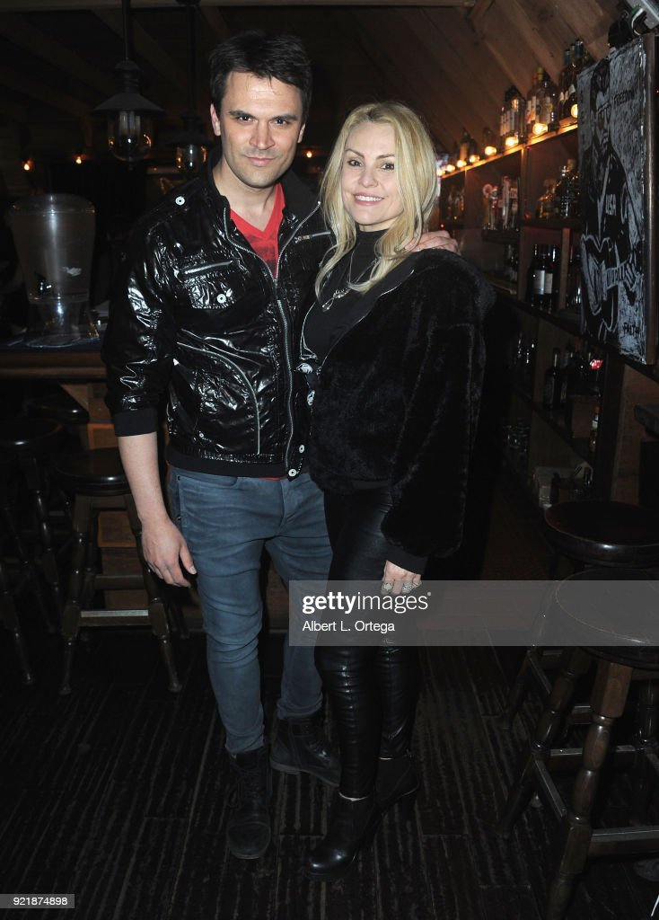 Actor Kash Hovey and actress Sarina Taylor attend the Indie Musicians Concert for Free2Luv.org #UNSTOPPABLE 3.10.2018 Movement, working to raise self-esteem for under-served girls, presented by Monarch PR and TMC held at State Social House on February 20, 2018 in West Hollywood, California.