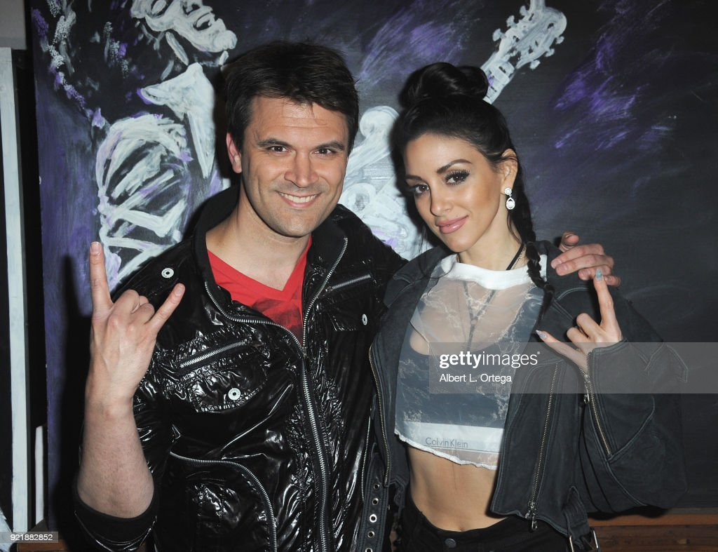 Actor Kash Hovey and singer Rachele Royale attend the Indie Musicians Concert for Free2Luv.org #UNSTOPPABLE 3.10.2018 Movement, working to raise self-esteem for under-served girls, presented by Monarch PR and TMC held at State Social House on February 20, 2018 in West Hollywood, California.