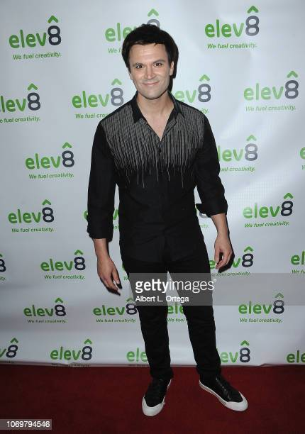 Actor Kash Hovey arrives for the elev8 Presents Jingle Mingle Holiday Party held at elev8 Office on December 7 2018 in Beverly Hills California