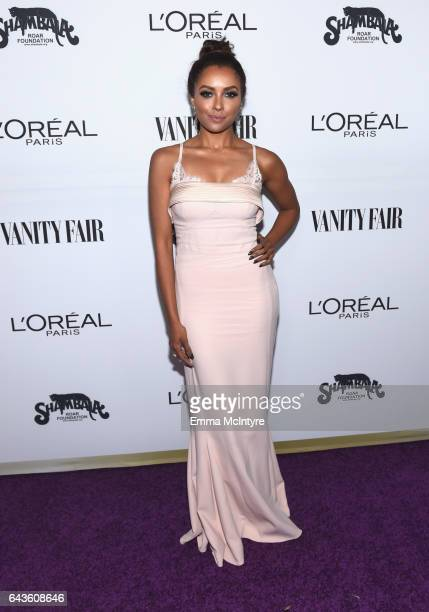 Actor Kat Graham attends Vanity Fair and L'Oreal Paris Toast to Young Hollywood hosted by Dakota Johnson and Krista Smith at Delilah on February 21...