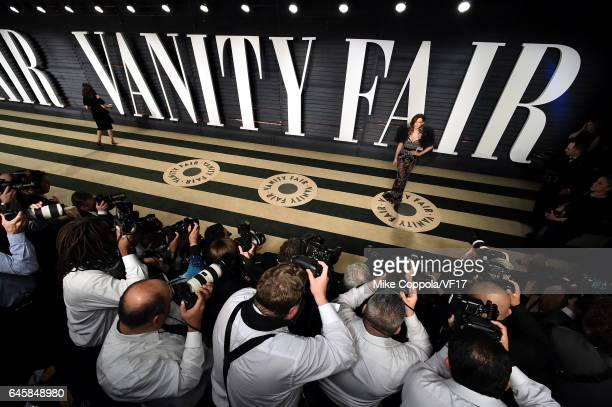 Actor Kate Beckinsale attends the 2017 Vanity Fair Oscar Party hosted by Graydon Carter at Wallis Annenberg Center for the Performing Arts on...