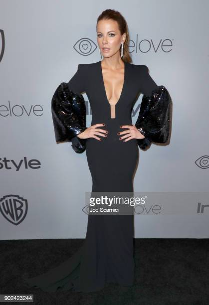 Actor Kate Beckinsale attends the 2018 InStyle and Warner Bros 75th Annual Golden Globe Awards PostParty at The Beverly Hilton Hotel on January 7...