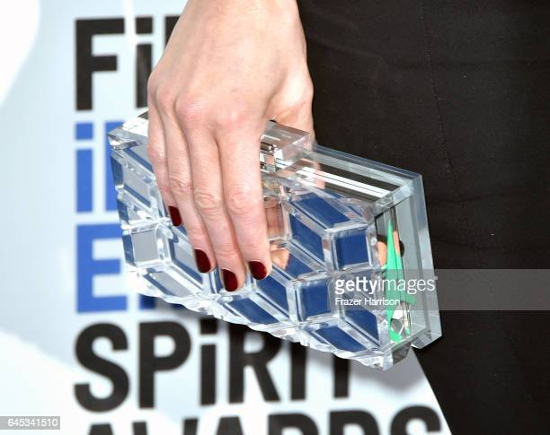Actor Kate Beckinsale purse detail attends the 2017 Film Independent Spirit Awards at the Santa Monica Pier on February 25 2017 in Santa Monica...