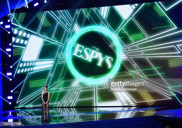 Actor Kate Beckinsale speaks onstage at The 2018 ESPYS at Microsoft Theater on July 18 2018 in Los Angeles California