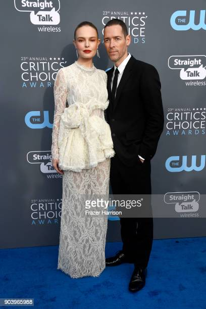 Actor Kate Bosworth and director Michael Polish attend The 23rd Annual Critics' Choice Awards at Barker Hangar on January 11 2018 in Santa Monica...