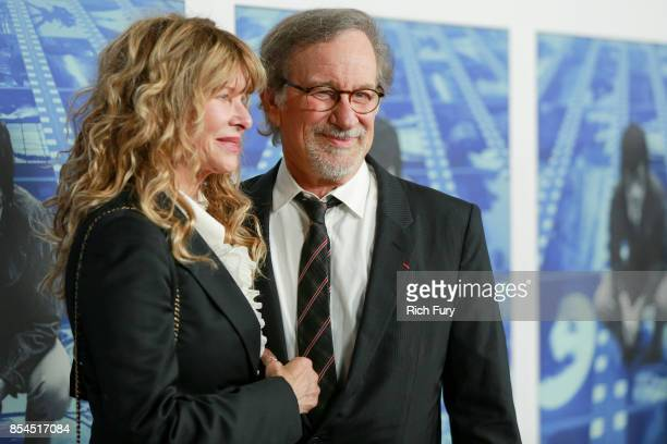Actor Kate Capshaw and director Steven Spielberg attend the premiere of HBO's Spielberg at Paramount Studios on September 26 2017 in Hollywood...