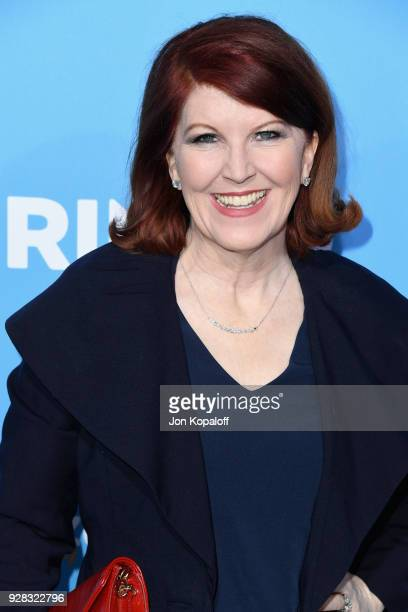 Actor Kate Flannery attends the world premiere of 'Gringo' from Amazon Studios and STX Films at Regal LA Live Stadium 14 on March 6 2018 in Los...