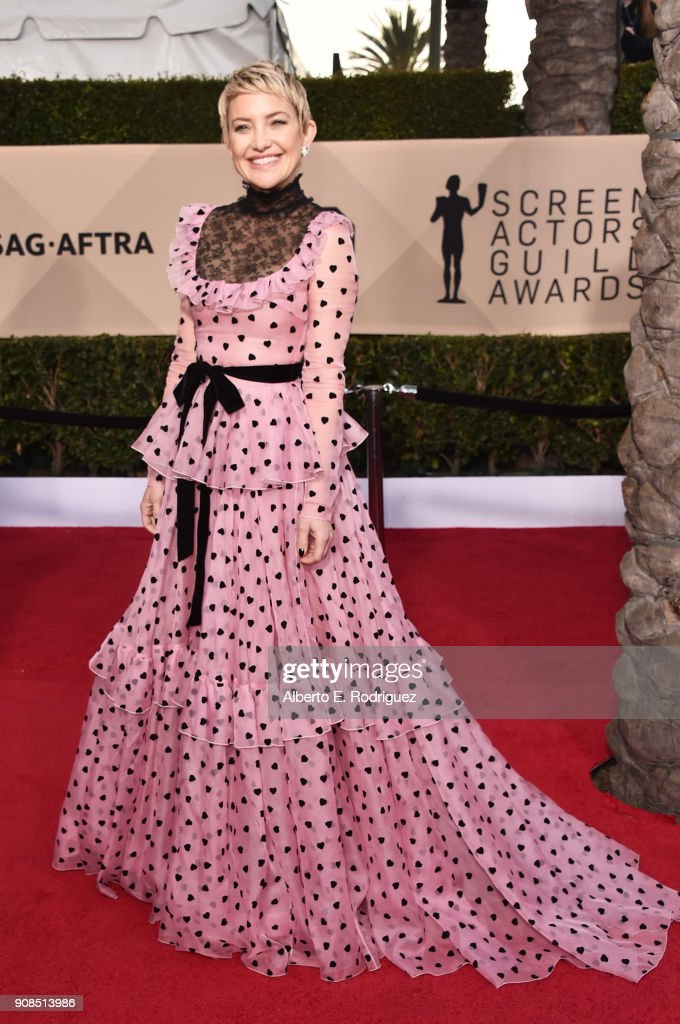 Actor Kate Hudson attends the 24th Annual Screen Actors Guild Awards at The Shrine Auditorium on January 21, 2018 in Los Angeles, California. 27522_006