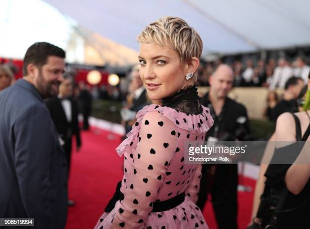 Actor Kate Hudson attends the 24th Annual Screen Actors Guild Awards at The Shrine Auditorium on January 21, 2018 in Los Angeles, California....