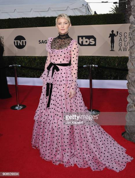 Actor Kate Hudson attends the 24th Annual Screen ActorsGuild Awards at The Shrine Auditorium on January 21 2018 in Los Angeles California