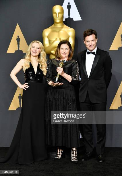 Actor Kate McKinnon costume designer Colleen Atwood winner of the Best Costume Design award for 'Fantastic Beasts and Where to Find Them' and actor...