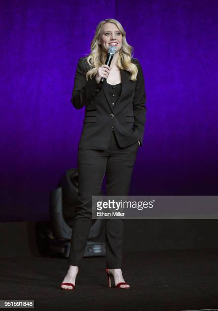 Actor Kate McKinnon speaks onstage during CinemaCon 2018 Lionsgate Invites You to An Exclusive Presentation Highlighting Its 2018 Summer and Beyond...