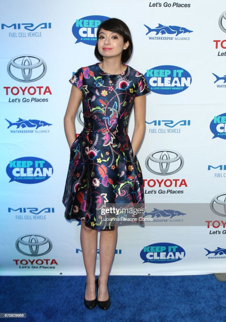 Actor Kate Micucci attends Keep It Clean Live Comedy Benefit for Waterkeeper Alliance at Avalon Hollywood on April 20, 2017 in Los Angeles, California.