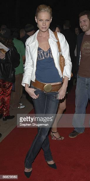 Actor Kate Nauta attends the SBIFF Riviera Award honoring Philip Seymour Hoffman at the Marjorie Luke Theatre on February 11 2006 in Santa Barbara...