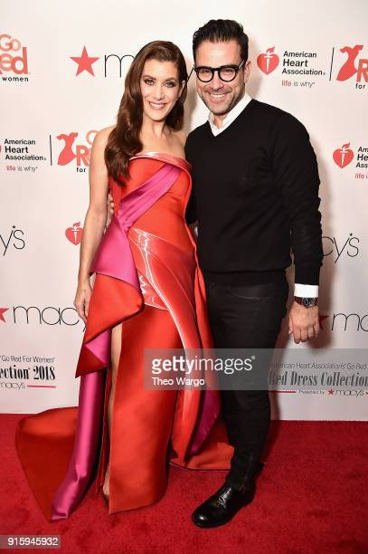 Actor Kate Walsh and Rubin Singer attend the American Heart Association's Go Red For Women Red Dress Collection 2018 presented by Macy's at...