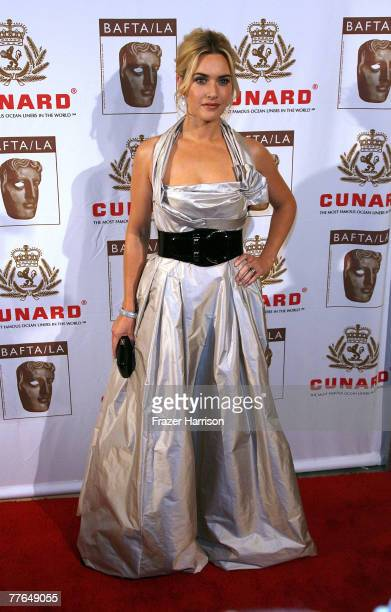 Actor Kate Winslet arrives at the 16th Annual British Academy of Film and Television/LA Cunard Britannia Awards on November 1 2007 at the Hyatt...