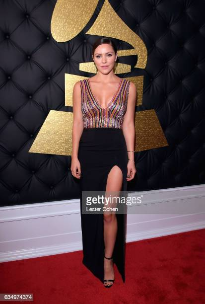 Actor Katharine McPhee attends The 59th GRAMMY Awards at STAPLES Center on February 12 2017 in Los Angeles California