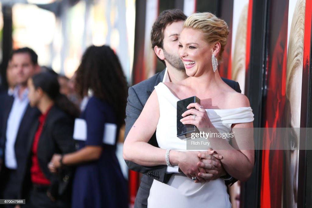 Actor Katherine Heigl (R) and musician Josh Kelley attend the premiere of Warner Bros. Pictures' 'Unforgettable' at TCL Chinese Theatre on April 18, 2017 in Hollywood, California.