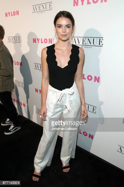 Actor Katherine Hughes at the NYLON Young Hollywood Party at AVENUE Los Angeles on May 2 2017 in Los Angeles California