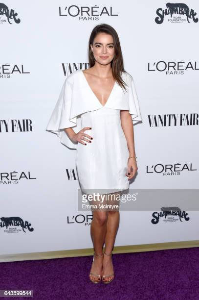Actor Katherine Hughes attends Vanity Fair and L'Oreal Paris Toast to Young Hollywood hosted by Dakota Johnson and Krista Smith at Delilah on...