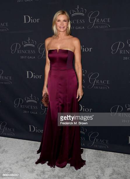 Actor Katherine Kelly Lang attends 2017 Princess Grace Awards Gala at The Beverly Hilton Hotel on October 25 2017 in Beverly Hills California