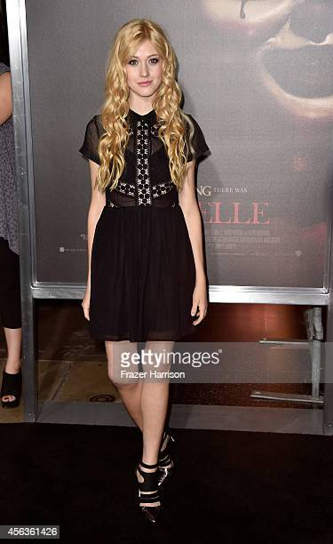 Actor Katherine McNamara arrives at the screening Of New Line Cinema's Annabelle at TCL Chinese Theatre on September 29 2014 in Hollywood California