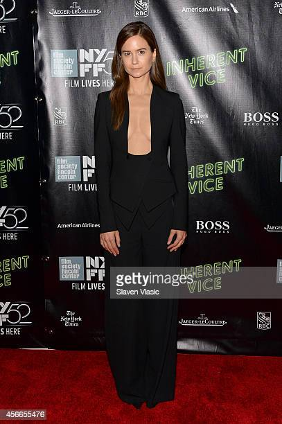 Actor Katherine Waterston attends the Centerpiece Gala Presentation and World Premiere of Inherent Vice during the 52nd New York Film Festival at...