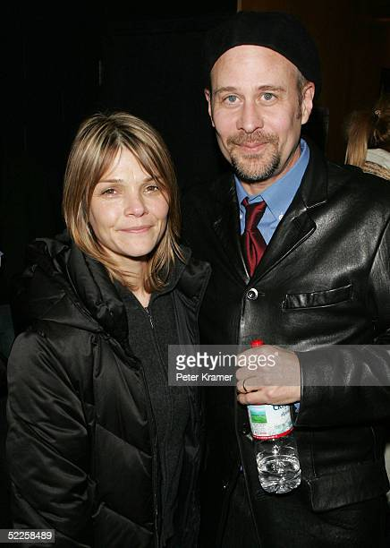 Actor Kathryn Erbe and director Terry Kinney attend the after party for the opening night of After Ashley on February 28 2005 in New York City