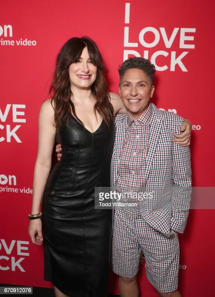Actor Kathryn Hahn and executive producer Jill Soloway attend the red carpet premiere of Amazon's forthcoming series 'I Love Dick' at The Linwood...