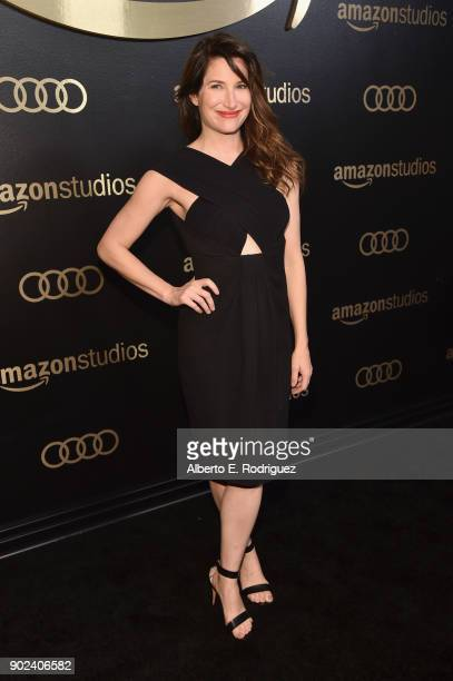 Actor Kathryn Hahn attends Amazon Studios' Golden Globes Celebration at The Beverly Hilton Hotel on January 7, 2018 in Beverly Hills, California.