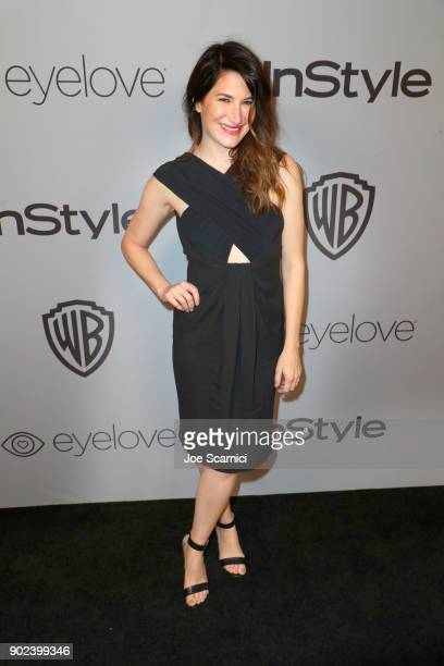 Actor Kathryn Hahn attends the 2018 InStyle and Warner Bros 75th Annual Golden Globe Awards PostParty at The Beverly Hilton Hotel on January 7 2018...
