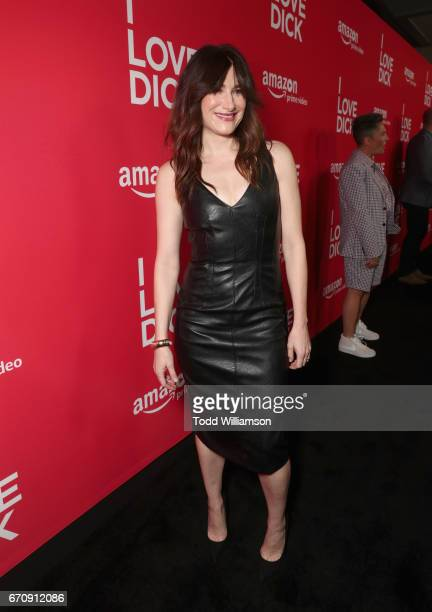 Actor Kathryn Hahn attends the red carpet premiere of Amazon's forthcoming series 'I Love Dick' at The Linwood Dunn Theater with a post reception at...