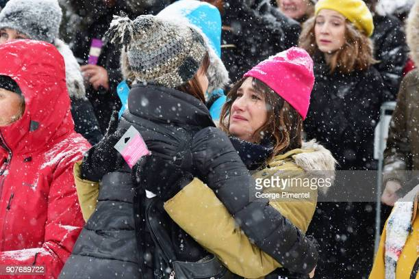 Actor Kathryn Hahn attends the Respect Rally in Park City on January 20th 2018 in Park City Utah