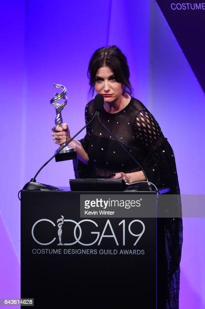 Actor Kathryn Hahn speaks onstage at The 19th CDGA with Presenting Sponsor LACOSTE at The Beverly Hilton Hotel on February 21 2017 in Beverly Hills...