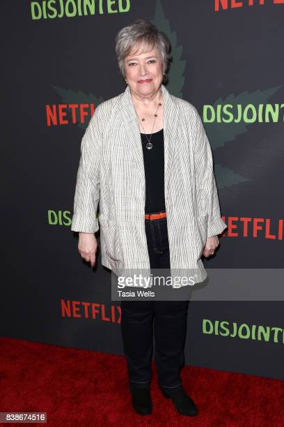 Actor Kathy Bates at the premiere of Netflix's Disjointed at Cinefamily on August 24 2017 in Los Angeles California