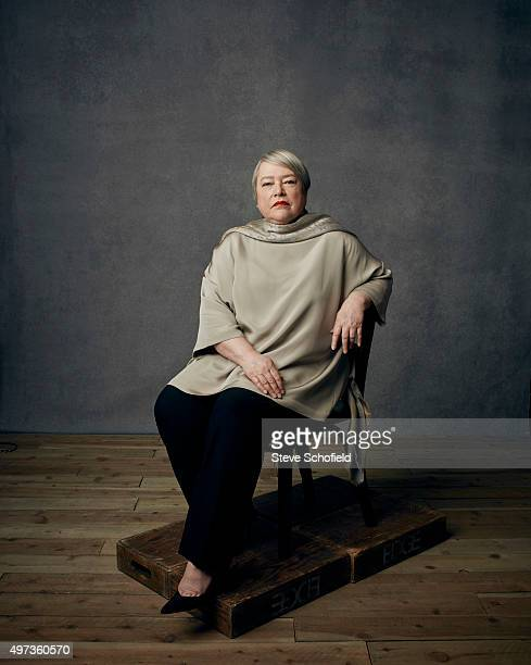 Actor Kathy Bates is photographed for Emmy magazine on December 1 2014 in Los Angeles California
