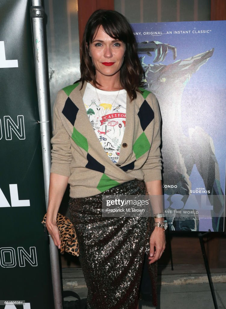 Actor Katie Aselton attends the Premiere Of Neon's 'Colossal' at the Vista Theatre on April 4, 2017 in Los Angeles, California.