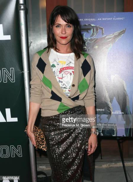 Actor Katie Aselton attends the Premiere Of Neon's Colossal at the Vista Theatre on April 4 2017 in Los Angeles California