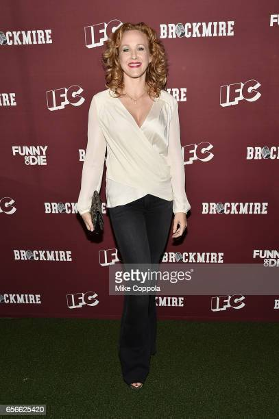 Actor Katie Finneran attends the 'Brockmire' red carpet event at 40 / 40 Club on March 22 2017 in New York City