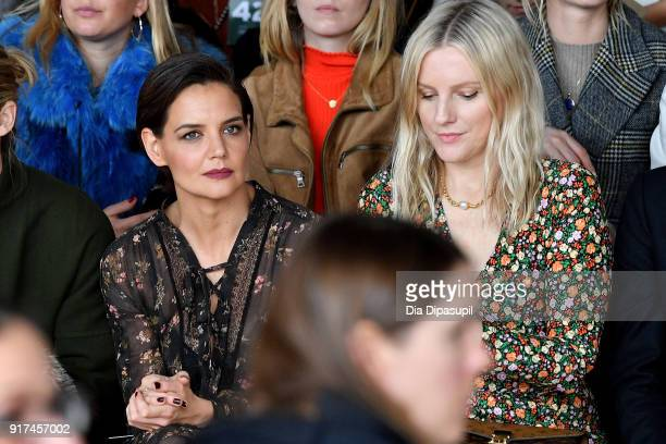 Actor Katie Holmes and Laura Brown attend the Zimmermann fashion show during New York Fashion Week The Shows at Gallery I at Spring Studios on...