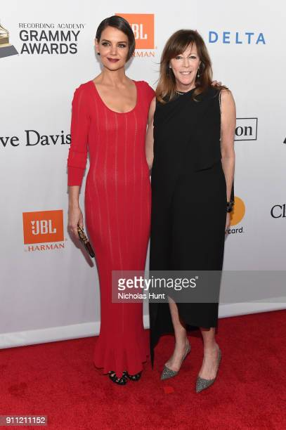 Actor Katie Holmes and producer Jane Rosenthal attend the Clive Davis and Recording Academy PreGRAMMY Gala and GRAMMY Salute to Industry Icons...