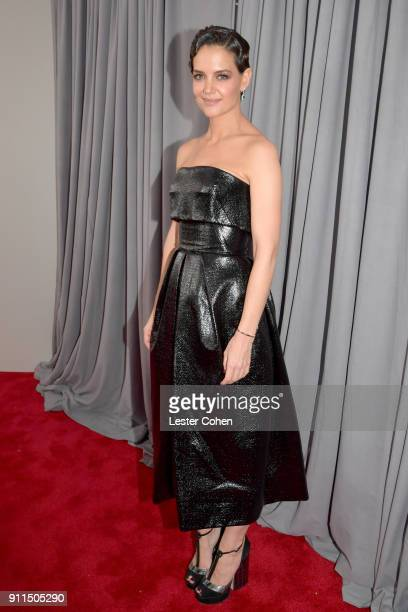 Actor Katie Holmes attends the 60th Annual GRAMMY Awards at Madison Square Garden on January 28 2018 in New York City