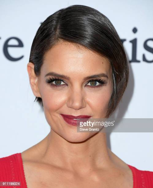 Actor Katie Holmes attends the Clive Davis and Recording Academy PreGRAMMY Gala and GRAMMY Salute to Industry Icons Honoring JayZ on January 27 2018...