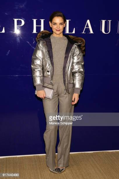 Actor Katie Holmes attends the Ralph Lauren fashion show during New York Fashion Week The Shows on February 12 2018 in New York City