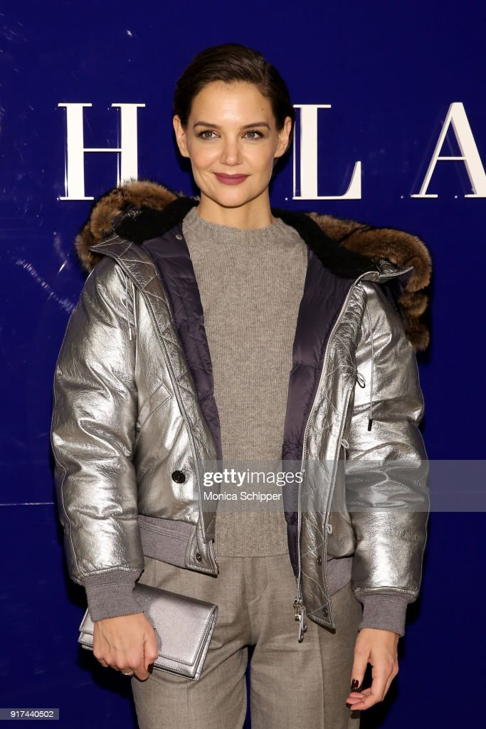 Actor Katie Holmes attends the Ralph Lauren fashion show during New York Fashion Week: The Shows on February 12, 2018 in New York City.