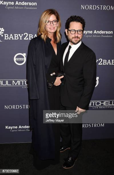 Actor Katie McGrath and director/producer JJ Abrams attend the 2017 Baby2Baby Gala at 3Labs on November 11 2017 in Culver City California