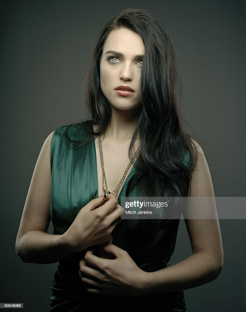Actor Katie McGrath poses for a portrait shoot in London on June 16, 2008.