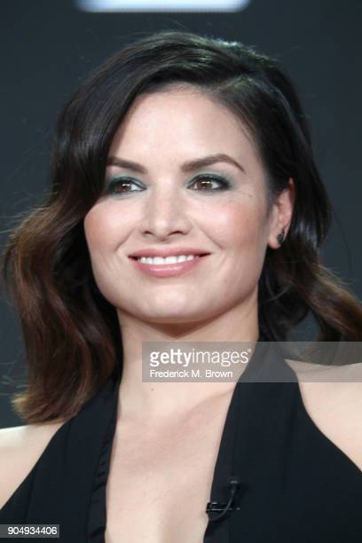 Actor Katrina Law of 'The Oath' speaks onstage during the Crackle portion of the 2018 Winter Television Critics Association Press Tour at The Langham...